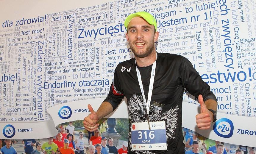 1. PZU Gdańsk Maraton. Tuż po finiszu. Wyglądam całkiem nieźle : )