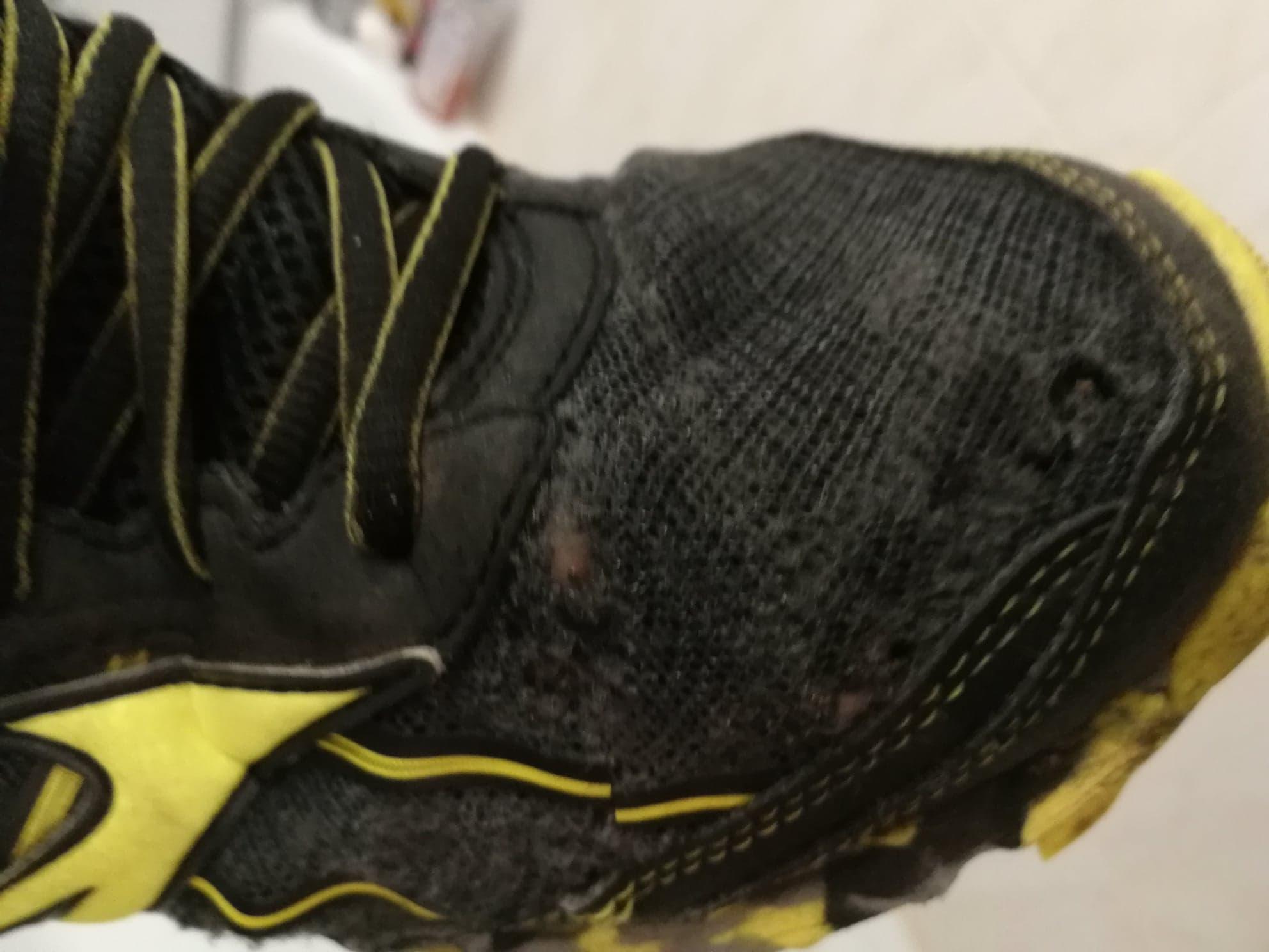Po pół roku jeden z butów wyglądał tak...